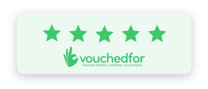 Vouched for 5 star rating